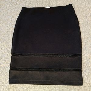 Black pull on Bisou Bisou pencil skirt